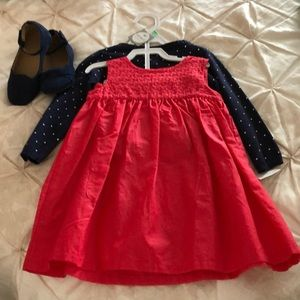 Toddler dress and sweater set 18M